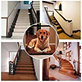 NiLeFo Magic Gate Pet Stair Gate for Dogs Saftey Gate Portable Folding Enclosure Pet Isolation Net Child Safety Gates Guard Install Anywhere (black)