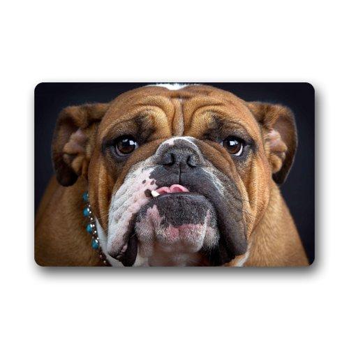 Cool Bulldog Face Pug Dog Doormats Entrance Mat Floor Mat Door Mat Rug Indoor/Outdoor/Front Door/Bathroom Mats Rubber Non Slip (23.6
