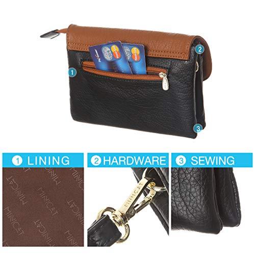 MINICAT RFID Blocking Small Crossbody Bags for Women Travel Small Purses and Handbags Crossbody with Card Slots