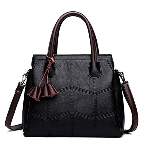 Women Top Handle Handbag,Patchwork Plaid Satchel Shoulder Bags Designer Tote Bag (Bag Utility Patch)