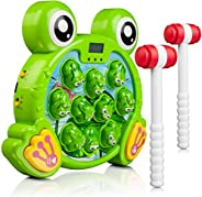 Whack A Frog Game - Whack a Mole Style Family Game for Toddlers - Interactive Toys for 2, 3, and 4 Year Old Bo