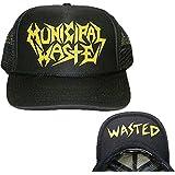 ill Rock Merch Municipal Waste - Yellow Logo Wasted Trucker Hat Cap