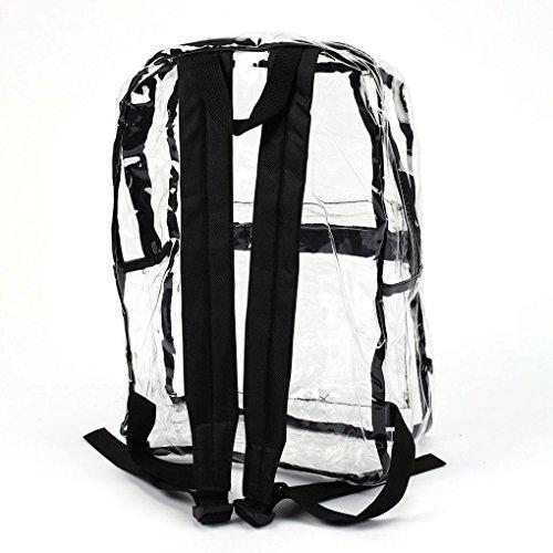 Trandparent Bagpack Sacs Femme Sac Voir Transparent d'école PVC Sac claire de Fille à au Femmes travers Republe dos plage 6PUnqw5