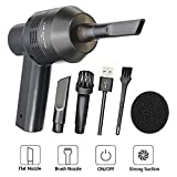 New Cordless Mini Computer Vacuum, Portable Rechargeable Vacuum Cleaner Car Pet Vacuum Dust Kit - Cleaning Dust, Hairs, Crumbs, Scraps, Cigarette Ash for Laptop, Keyboard, Makeup Bag, Car, Pet House