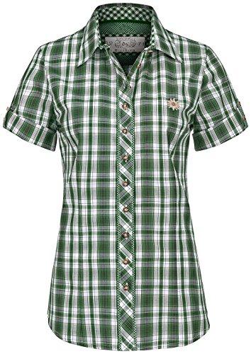 OS TRACHTEN halbarm Bluse grün, Gr.40