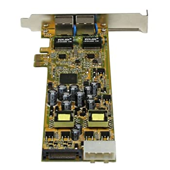 Startech Dual Port Pci Express Gigabit Ethernet Network Card Adapter - 2 Port Pcie Nic 10100100 Server Adapter With Poe Pse 3