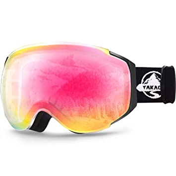 7e03da2ddfb YAKAON OTG Ski Goggles UV Protection Snowboard Goggles Frameless Spherical  Anti-Fog Lens for Men Women Youth: Amazon.ca: Sports & Outdoors