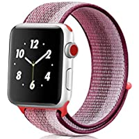 Apple watch cloth band /38-40mm/42-44mm/series:1,2,3,4,5 (38-40mm, Pink)