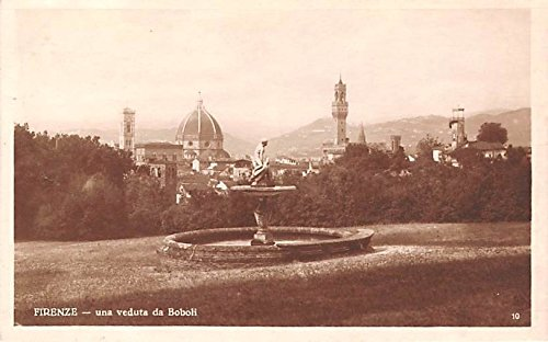 (Italy Old Vintage Antique Post Card Firenze Real Photo Unused)