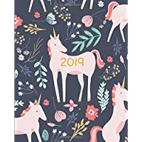 2019 Planner Weekly And Monthly: Calendar Schedule + Organizer   Inspirational Quotes And Fancy Unicorn Cover   January 2019 through December 2019