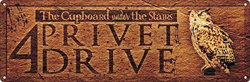 Grindstore 4 Privet Drive Slim Tin Sign 30.5 x ()