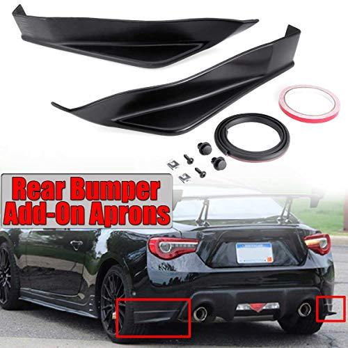 Aero Spoiler - Star-Trade-Inc - New Pair Car Rear Bumper Diffuser Lip Spoiler Splitter Cover Add-On For Aero Side Aprons For Subaru BRZ Sti TS Style 013-