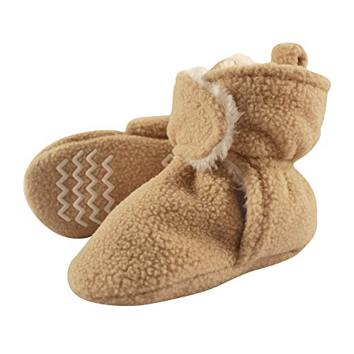 Hudson Baby Sherpa Booties with Non Skid Bottom