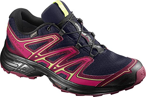 Salomon Wings Flyte 2 Gtx, Zapatillas de Running para Asfalto para Mujer Azul (Evening Blue/beet Red/sunny Lime)
