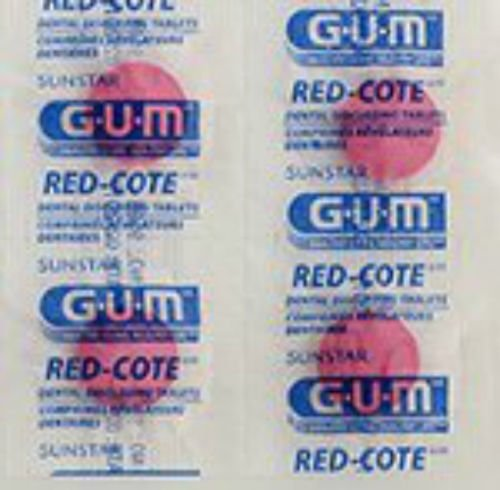 (GUM Red-Cote Disclosing Plaque Tablets- Cherry Flavor (40 tablets))