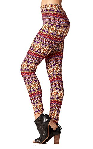 Buttery-Soft Printed Leggings for Women 100+ Prints and Solids in Regular and Plus Size - Cardinal Direction - One Size (0-12) (One Direction Leggings)