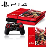 [PS4] Mobile Suit Gundam Unicorn UC #1 Sinanju Red Whole Body VINYL SKIN STICKER DECAL COVER for PS4 Playstation 4 System Console and Controllers