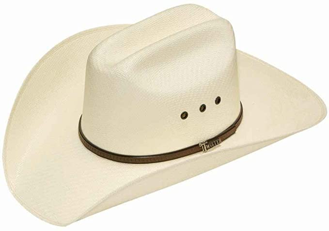 Twister Men s 5X Shantung Double S Straw Cowboy Hat at Amazon Men s  Clothing store  fc86d43b6857