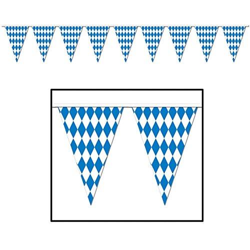 Beistle 57774 Oktoberfest Pennant Banner, 17 by 30-Feet -