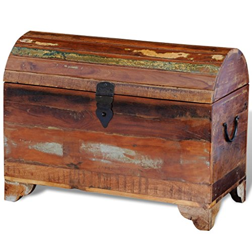 SKB Family Reclaimed Solid Wood Storage Chest Goalie Bauer (Goalie Senior Protector Chest)