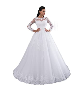 Girls Dress Ball Gown Wedding Dresses 2018 Detachable Train Lace Pearls Bridal Gowns Crystal Sashes Vestido