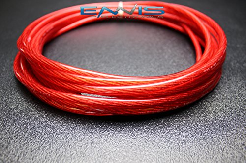 8 GAUGE WIRE 25 FT TOTAL 12.5FT BLACK 12.5FT RED AWG CABLE BY ENNIS ELECTRONICS POWER GROUND STRANDED CAR SOLAR AUTOMOTIVE Photo #6