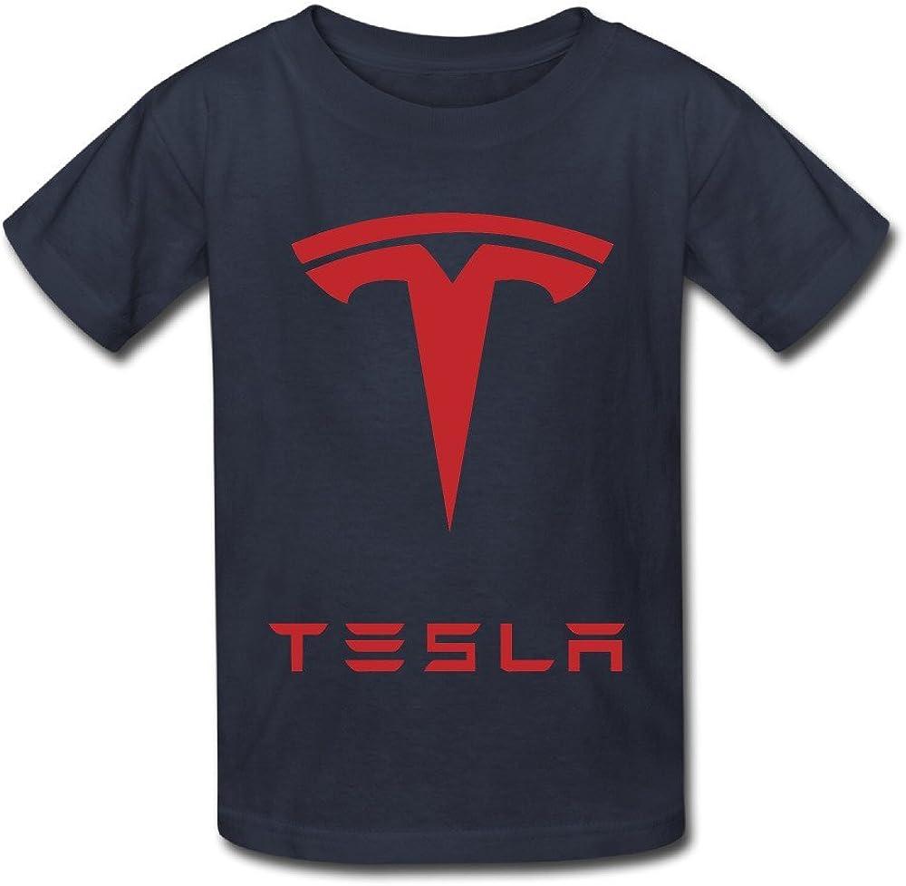 Youth Tesla Logo T Shirt White