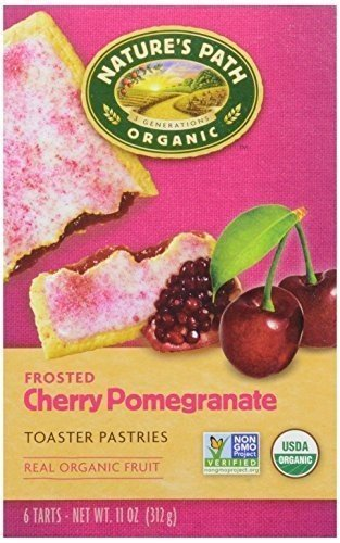 Nature's Path Organic Toaster Pastries, Frosted Cherry Pomegranate, 6-Count Boxes (Pack of 12) ( Value Bulk Multi-pack) by Natures Path