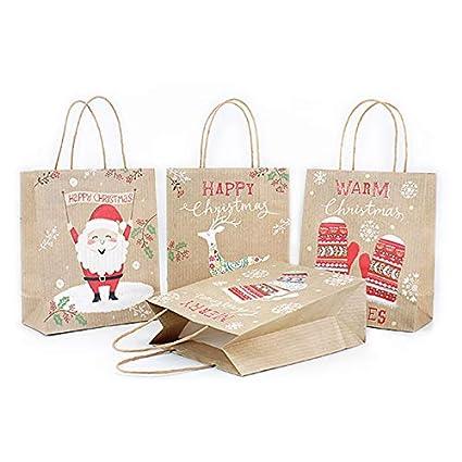 Bolsas de regalo de Navidad, 1 bolsa de compras de papel con ...