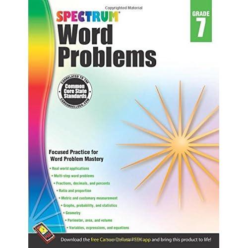 Amazon Com Word Problems Grade 7 Spectrum 9781624427336