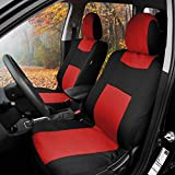 BDK PolyPro Car Seat Covers, Full Set in Red on