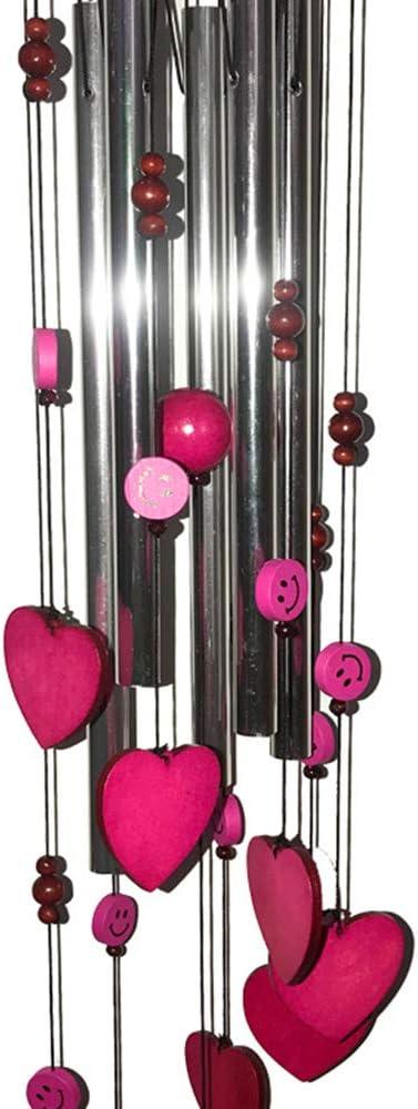 VKTY Carillon /à Vent d/écoratif pour int/érieur et ext/érieur avec 5 Tubes Rose M Violet