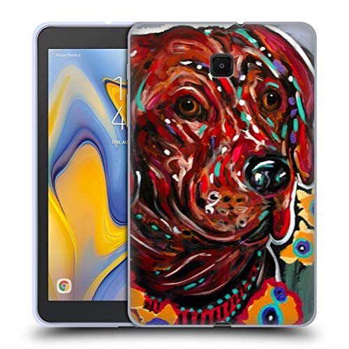 Mad Dog Chocolate - Official Mad Dog Art Gallery Hot Chocolate Dogs Soft Gel Case Compatible for Galaxy Tab A 8.0 (2018)