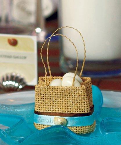 Natural Miniature Woven Beach Bags - Natural Miniature Woven Beach Bags