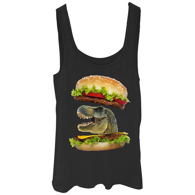 Lost Gods Dinosaur Cheeseburger Juniors Graphic Tank Top