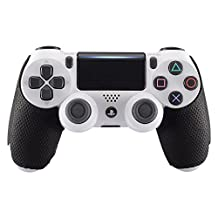 eXtremeRate Professional Textured Soft Rubber Handle Grips for Playstation 4 PS4 Slim/PS4 Pro Controller - Improve The Grip and Comfort