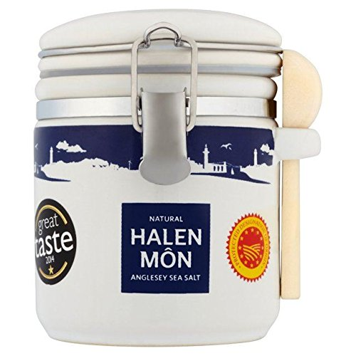 Halen Mon Sea Salt - Halen Mon Pure Sea Salt PDO in Large Ceramic Jar 100g