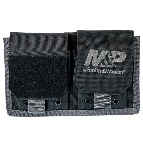 (Smith & Wesson M&P Pro Tac Pistol Magazine Pouch for Tactical Rugged Use with Weather Resistant Material for Shooting, Range and Storage)