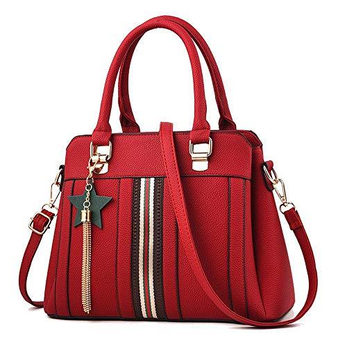 Sac Main 12 bandoulière Femmes ANLEI Mode La 23cm Sac à Couleurs 610 Messenger FZY à Bag Red1 5 31 PU TxqRqwz