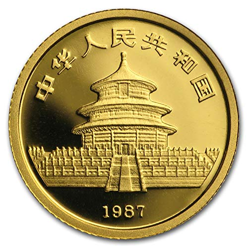 1987 CN China 1/20 oz Gold Panda Proof (In Capsule) Gold About Uncirculated