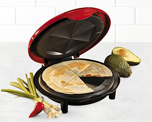 082677218063 - Nostalgia EQM200 Fiesta Series 6-Wedge Electric Quesadilla Maker with Extra Stuffing Latch carousel main 3