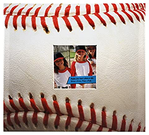 MBI 9.6x8.5 Inch 10 Page Baseball Theme Scrapbook with Photo Opening Front (865480)