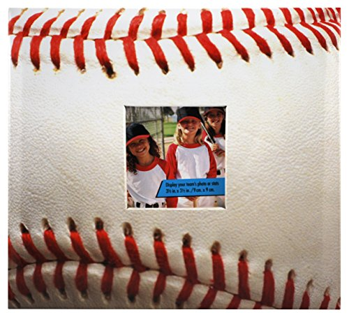 (MCS MBI 9.6x8.5 Inch Baseball Theme Scrapbook Album with 8x8 Inch Pages with Photo Opening (865480))