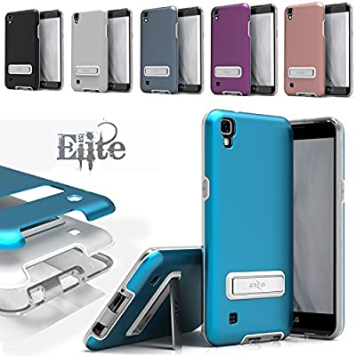 LG X Power Case, Zizo [Elite Series] with FREE [LG X Power Screen Protector] Shockproof Protection with Built-in[Magnetic Kickstand] LG X Power K210