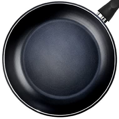TeChef - Color Pan 12  Frying Pan, Coated with DuPont Teflon Select - Colour Collection / Non-Stick Coating (PFOA Free) / (Pure Black)