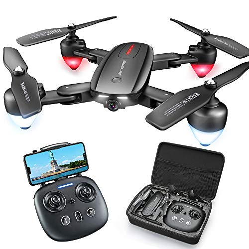 Foldable GPS Drone with 4K Camera for Adults,zuhafa T5,RC Quadcopter with GPS Return Home,5Ghz WiFi Transmission Live…