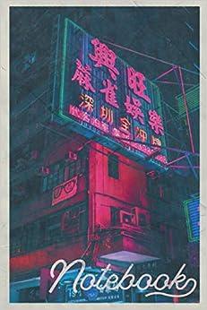 Descargar gratis Notebook: Neon Light Cool Composition Book Journal Diary For Men, Women, Teen & Kids Vintage Retro Design Tokyo Nightlife PDF