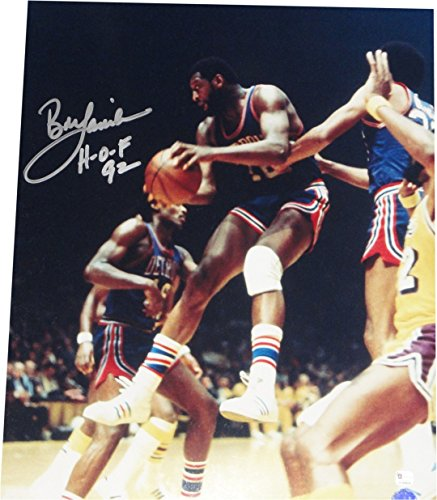 Bob Lanier Signed Autographed 16x20 Photo Detroit Pistons 2 Hands on Ball