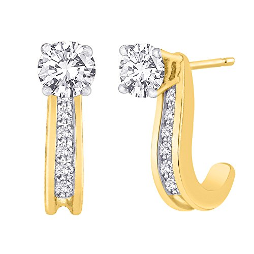 KATARINA Diamond Earring Jackets in 14K Gold 1 4 cttw Color GH, Clarity I1