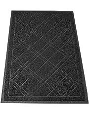 """SlipToGrip - Universal Door Mat with DuraLoop - XL 42""""x36"""" Outdoor Indoor Entrance Doormat - Waterproof - Low Profile Door Mat - Welcome - Front Door Garage Patio - Phthalate & BPA Free (Black)"""